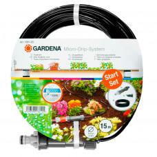Шланг сочащийся 4,6 мм наземный с мастер-блоком Gardena 01361