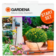 Комплект капельного полива с таймером Gardena 01398
