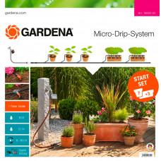 Капельный полив с мастер-блоком и таймером Gardena 13002