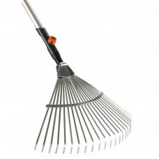 Комплект грабли веерные металлические + ручка деревянная Gardena 03022